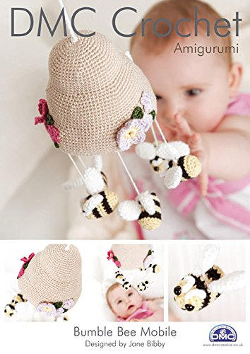 Bumble Bee Mobile, DMC Crochet Amigurumi Pattern 14897L/2 by DMC (Bumble Bee-home)