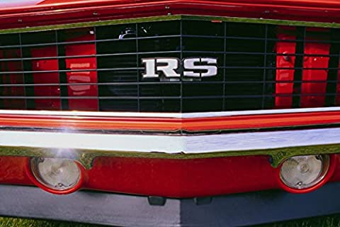 778069 1968 Chevrolet Camaro Rally Sport Front Grill A4 Photo Poster Print 10x8