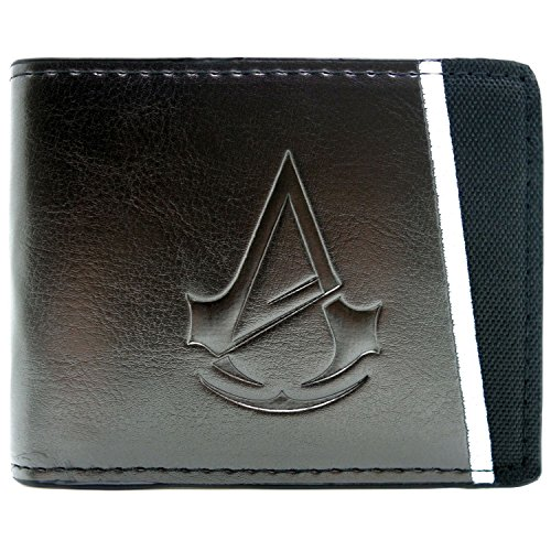 Ubisoft Assassins Creed Unity Symbol Schwarz Portemonnaie (Black Creed Assassins Cosplay Flag Kostüm)