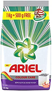 Ariel Colour Detergent Washing Powder - 1 kg with Free Detergent Washing Powder - 500 g