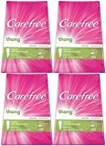 Carefree Thong Pantiliners, Regular Protection, Unscented, 196 Pantiliners (4 X 49 Count Boxes) by Carefree