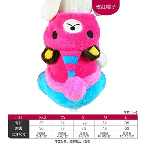 (Y-Hui Herbst und Winter mit Eingedicktem pet Kleidung Taktik vier Kleidung Welpen kleiner Hund Hund Kleidung, tragen Rosa, Xxs gedreht)