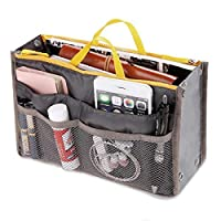 ACDGS Women Nylon Multifunction Travel Storage Bag Inside Toiletry Bag ACDGS (Color : Color Gray, Size : OneSize)