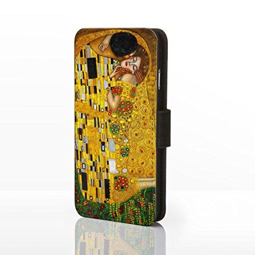 Classic Art Collection Fällen für das iPhone Reihe. bekannten Künstlerin Gemälde Bezüge, Kunstleder, 2: The Kiss - Gustav Klimt, iPhone 5/5S 2: The Kiss - Gustav Klimt
