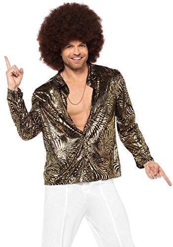 LEG AVENUE 85586 - goldfolie Disco Shirt mit -