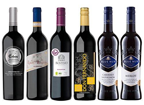 Europa Rotweinreise Probierpaket (6 x 0.75l)