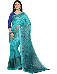 Saree Mall Women's Cotton Silk Saree With Blouse Piece (Saree_Below_500_Mdb8405-F_Blue)