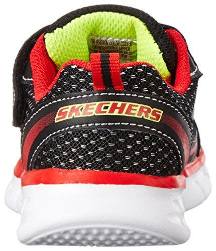 Skechers - Synergymini Dash, Sneaker basse Bambino Nero (Schwarz (BKRD))