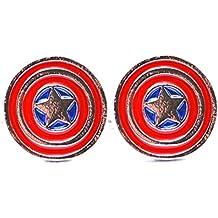 Marvel Capitan America Gemelli star Shield Avengers Super Hero da