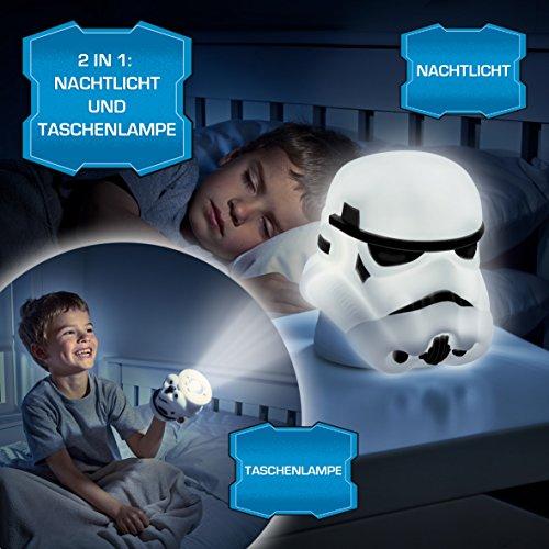 2 in 1 Star Wars 3D Nachtlicht + Taschenlampe Stormtrooper Kinderlampe The...