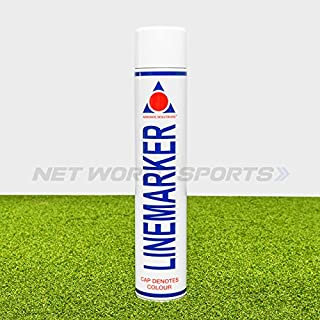 750ml Aerosol Line Marking Paint | Six Colours Available | Sports Pitch Marking Solution - [Net World Sports] (Pack of 1, White)