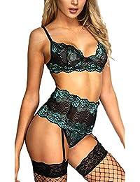 Reooly Moda para Mujer Ropa Interior Sexy Letra G Tanga de Cuerda para Mujer Elegante Conjunto elástico 6 Colores