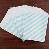 Layal Design Süßigkeiten Tüten 50 Stück – Süßigkeiten Beutel / Candy Bar / Junge / Blau