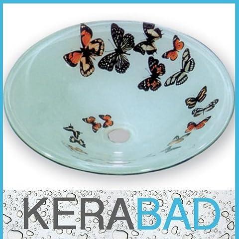 Glaswaschschale KBG6018 Glas Waschtisch Waschschale Aufsatzwaschbecken
