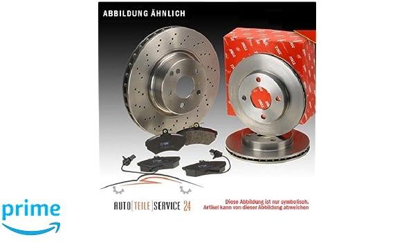plaquettes de frein avant Brembo 09.5843.10 Kit disques P23085