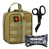 BUSIO Tactical IFAK Pouch, First Aid Rip-Away MOLLE Pouch, Emergency Survival Kit Small...