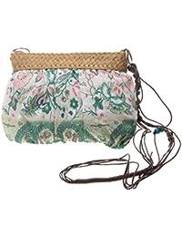 Frauen Strand Schultertasche Beutel Sommerferien Stroh Handtaschen