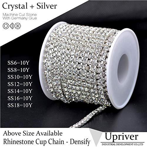 Penveat rotolo da 9,1 m di catenella con cristalli di strass ss16 (3,8-4,0 mm) per borse, design ss14