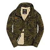 Superdry Jacke Herren Classic Rookie Military Jacket Hurricane Camo, Größe:XL