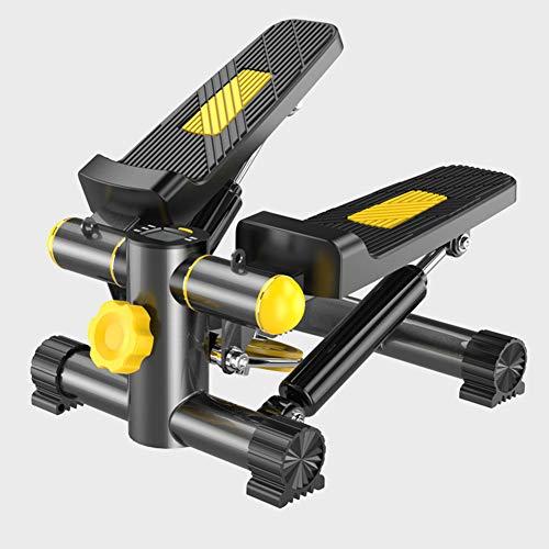 MMDFFGZ Mini-Home-Stepper Silent-Massage-Stepper Geeignet Für Männer Und Frauen Mit Einem Gewicht Von Bis Zu 140 Kg. Schwarz + Gelb
