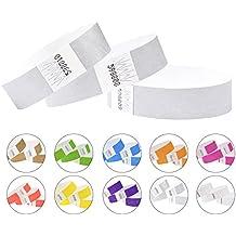 Cintapunto®, braccialetti in Tyvek da 19 mm, confezione da 1000, braccialetti per eventi, feste, braccialetti di carta, in Tyvek di ottima qualità, braccialetti identificativi Silver