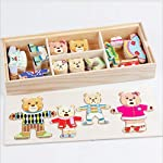 Clothes and expressions matching wooden puzzles