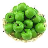 Gresorth 30 Stück Künstliche Lebensechte Mini Grün Apfel Deko Gefälschte Früchte Obst Party Festival Dekoration