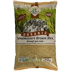 24 Mantra Organic Sonamasuri Raw Rice Brown Organic, 5kg
