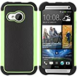 tinxi® Silikon Schutzhülle für HTC One Mini 2 Silicon Rück Schale Tasche Cover Case Etui in Schwarz grün