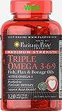 Puritan's Pride Maximum Strength Triple Omega 3-6-9 Fish,flax&borage Oils Fast Dispatch(157) from PURITAN'S PRIDE