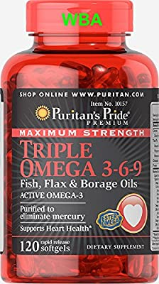 Puritan's Pride Maximum Strength Triple Omega 3-6-9 Fish,flax&borage Oils Fast Dispatch(157) from PURITAN'S PRIDE
