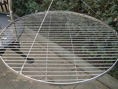 Unbekannt 100 cm Grillrost Grill Rost Edelstahl V2A 1.4301 für Schwenkgrill Dreibein Rund Grillgitter