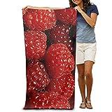 Gebrb Duschtücher/Badetücher,Strandtücher, Raspberry Fruits Pattern Luxurious Polyester Camping Bath Sheets Large Towel for Beach Blanket Cover Tent Floor Yoga Mat 31.5' X 51.2',Soft Quick Dry