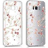Samsung Galaxy S8 Plus Hülle , YIGA Rosa Blüten Knospen TPU Weich Tasche Schutzhülle Silikon Handyhülle Schale Case für Samsung Galaxy S8 Plus