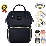 BRIGHTSHOW Baby Wickelrucksack Wickeltasche mit Wickelunterlage Multifunktional Segeltuch Große Kapazität Babytasche Kein Formaldehyd Reisetasche für Unterwegs