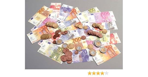 JPC Spielgeld 65 Geldscheine /& 80 Münzen im Polybeutel
