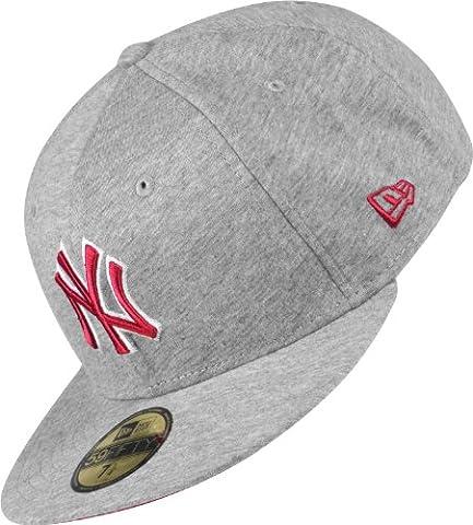 New Era Jersey Basic 2 MLB NY Yankees Cap grey/scarlet