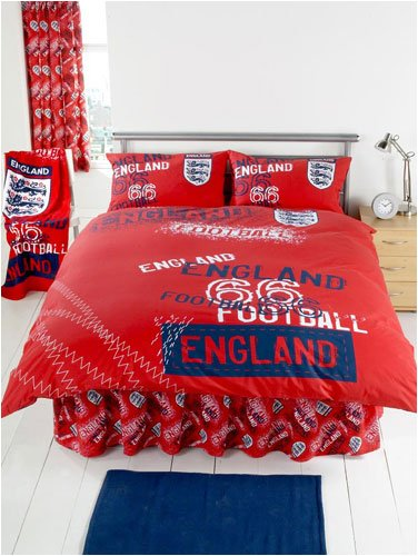 England Duvet Cover and Pillowcase 'Red 66' Design Double Size Kids Bedding