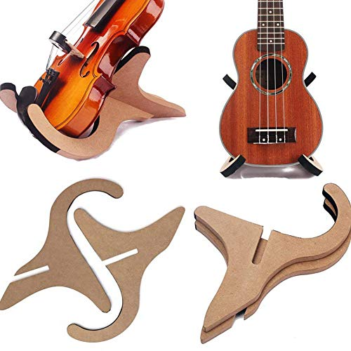 Newin Star Office Guitar Stand Wooden Musical Instrument Stand Foldable Portable Stand for Classical Guitar Acoustic Bass Banjo Ukulele