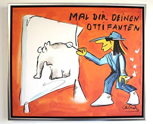 H. Packmor GmbH Original Otto Waalkes Grafik Mal dir deinen Ottifanten limitiert Leinwand