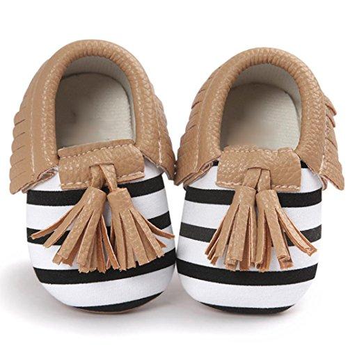 FEITONG Baby Krippe Troddeln Bowknot Schuh Kleinkind Turnschuh Beiläufige Schuhe (13, Braun) Braun