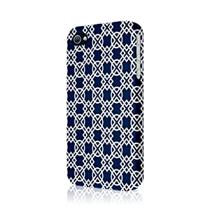 EMPIRE Signature Series Slim-Fit Case for Apple iPhone 4/ 4S - Navy Blue Knots