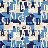 Fabulous Fabrics Dekostoff Halbpanama Buchstaben -
