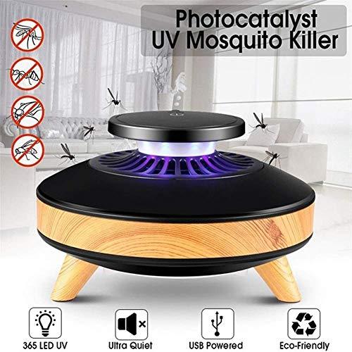 HTTMWQ HTTSC Moskito-Lampe LED Fly Kille USB-Powered LED-Lichtsteuerung UV-Smart Insektenschutz Mücken Inhalator Bug Trap (Color : Black) -