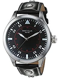 Mike Ellis New York Herren-Armbanduhr Desert Fox Analog Quarz Kunstleder SM4312