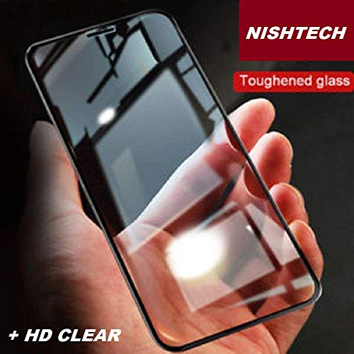 NishTech Moto G7 Power (2019) HD Clear Transparency new Premium Full edge to edge Crisp Viewing Tempered Glass with installation wipes