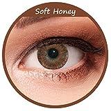 Braune Farbige Kontaktlinsen 3 Monatslinsen ohne Stärke Design: Soft Hazel