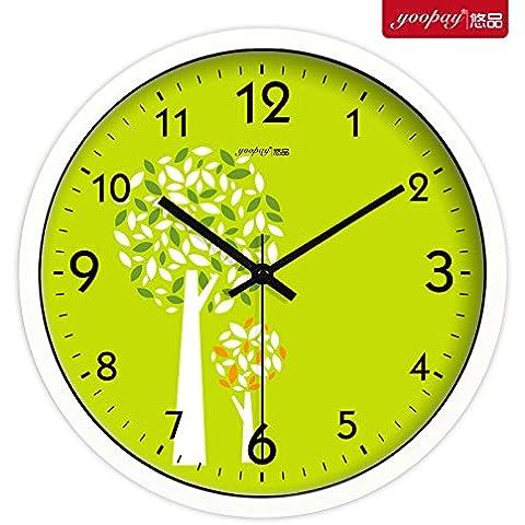 XB.T Halloween, regalos de Navidad Elegante reloj de pared grande salón moderno dormitorio minimalista idílico silencio Relojes Reloj de pared para la decoración del hogar 14 en caja