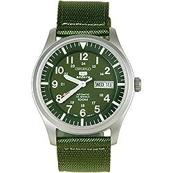 Seiko SNZG09K1 - Reloj con correa de tela para hombre, color verde / gris