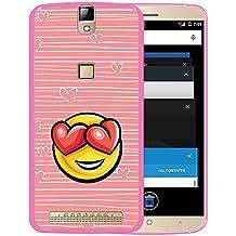 Funda Elephone P8000, WoowCase [ Elephone P8000 ] Funda Silicona Gel Flexible Emoticono Emoji Corazónes Amor, Carcasa Case TPU Silicona - Rosa